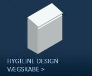 Hygiejnedesign/Vægskabe